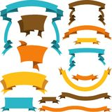 Set of retro ribbons and labels. Vector. Illustration Stock Photo
