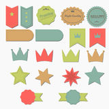 Set of retro ribbons and labels. Royalty Free Stock Images