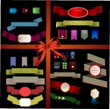 Set of retro ribbons and labels. Vector illustration can be used Royalty Free Stock Image
