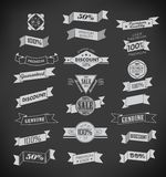 Set of retro ribbons and labels. Vector illustration. Stock Image