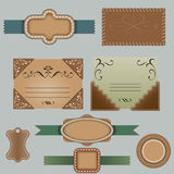Set of retro ribbons and labels. Set of vintage labels, scalable and editable vector illustrations Stock Photos