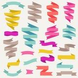 Set of retro ribbons. Vector illustration. Stock Photography