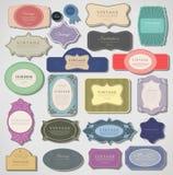Set retro rocznik etykietki. Wektorowa ilustracja. Fotografia Royalty Free