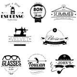 Set retro rocznik odznaki, etykietki i Obrazy Stock