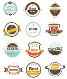 Set retro rocznik odznaki, etykietki i Fotografia Stock