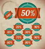 Set of retro sale labels Royalty Free Stock Image