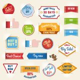 Set of sale stickers and tags Stock Photography