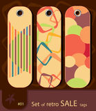 Set of retro sale tags Royalty Free Stock Images