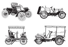 Set - retro samochody Zdjęcia Royalty Free
