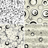 Set retro seamless backgrounds. Royalty Free Stock Photos