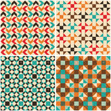 Set retro seamless geometric patterns Stock Image