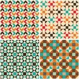 Set retro seamless geometric patterns Stock Image