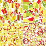 Set of retro seamless ornaments. Set of retro geometrical seamless ornaments royalty free illustration