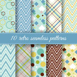 Set of retro seamless patterns Royalty Free Stock Images