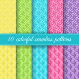 Set of retro seamless patterns Stock Photo