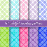 Set of retro seamless patterns Royalty Free Stock Photography
