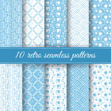 Set of retro seamless patterns Stock Images