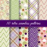 Set of retro seamless patterns Stock Image