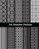 Set retro seamless patterns Stock Images