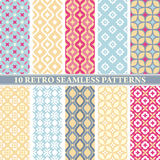 Set of 10 retro seamless patterns. Vector illustration vector illustration