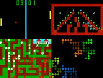 Set of retro style game pixelated graphics. Set of retro old style game pixelated graphics Royalty Free Stock Images
