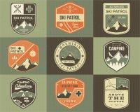 Set of Retro style Ski Club, Patrol Labels Stock Images