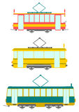 Retro trams. Royalty Free Stock Photo
