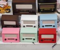 Set of retro styled old radios Stock Images
