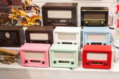 Set of retro styled old radios Stock Photography