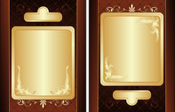 Set of retro-styled ornate labels. Stock Images