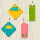 Set of 4 retro summer tags. Stock Image