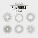 Set of Retro Sun burst shapes. Vector illustration Stock Photos