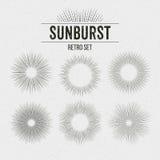 Set of Retro Sun burst shapes. Vector illustration. EPS 10 Stock Photos