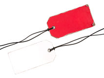 Set of Retro Tags. Red and White Stock Images