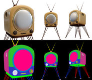A set of retro television Stock Photos