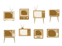 Set of retro TV Stock Photos