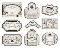 Set retro variation vintage labels (2) Royalty Free Stock Image