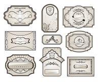 Set Retro Variation Vintage Labels (7) Stock Image