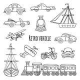 Set retro vehicle Stock Images