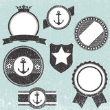 Set of retro vintage badge icons Stock Photo