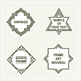 Set of  retro vintage badges,  frames , labels Royalty Free Stock Photo