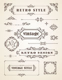 Set of Retro Vintage Badges, Frames, Labels and Borders. Royalty Free Stock Images