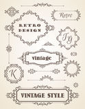 Set of Retro Vintage Badges, Frames, Labels and Borders. Royalty Free Stock Image