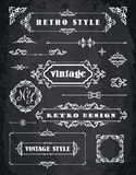 Set of Retro Vintage Badges, Frames, Labels and Borders. Royalty Free Stock Photography