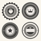 Set of retro vintage badges and labels royalty free illustration