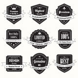 Set of retro vintage badges and labels Stock Image
