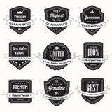 Set of retro vintage badges and labels stock illustration