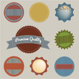 Set of retro vintage badges and labels. Stock Images