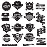 Set of retro vintage badges and labels Royalty Free Stock Images