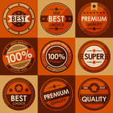 Set of retro vintage badges and labels. Flat Style Stock Photography